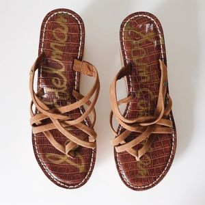 Sam Edelman Reana Cork Wedge Sandal, size 7.5